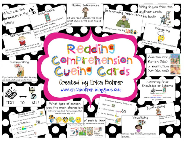 Comprehension Cueing Cards and Guided Reading Resource