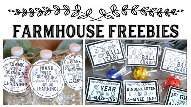 Farmhouse Style Classroom Freebies and Updates!
