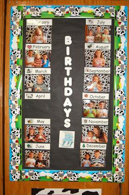 Birthday Bulletin Board and More Polka Dots!