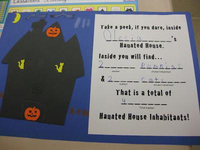 Haunted House Inhabitants Math Center