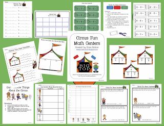 Circus Fun Math Centers – Free Sample!