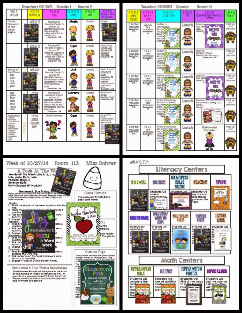 First Grade Visual Plans for October 27th – Halloween