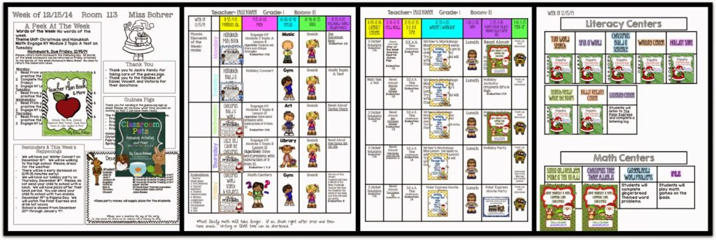 The Week Before Christmas Break – Plans for First Grade