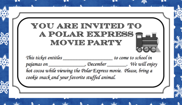 Polar Express Movie Party Ticket and More!