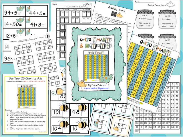 0-120 Charts and Activities – Common Core Aligned!