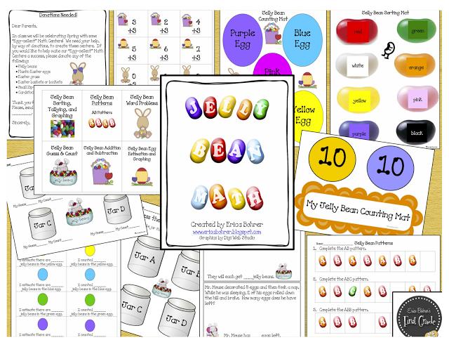 Jelly Bean Themed Math & Freebie